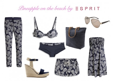 Pineapple on the beach by Esprit.com